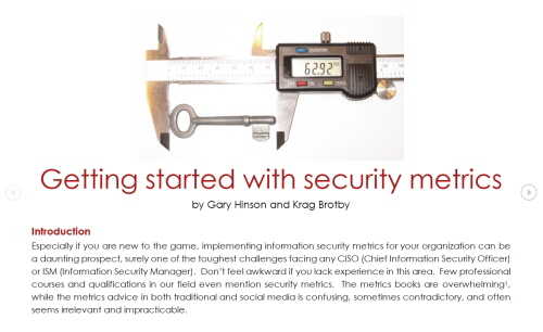 Getting started with security metrics 500